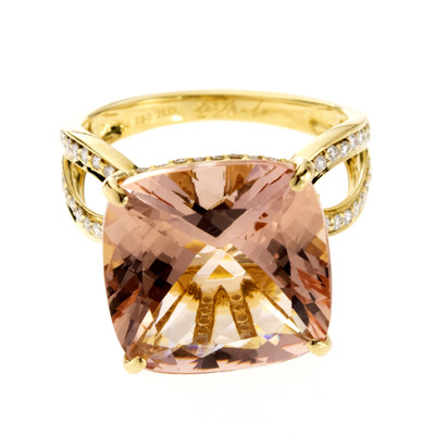 18K Brazilian Morganite Gold Ring (de Melo)
