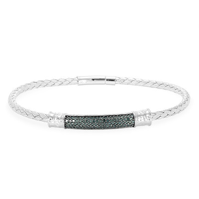 Blue Diamond Silver Bracelet