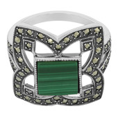Malachite Silver Ring (M de Luca)