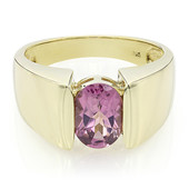 9K AAA Pink Tourmaline Gold Ring