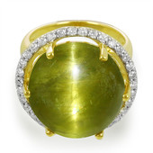 9K Cats Eye Zultanite Gold Ring