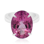 Flamingo Topaz Silver Ring