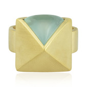 Aqua Chalcedony Silver Ring (MONOSONO COLLECTION)