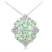 Brazilian Paraiba Tourmaline Silver Necklace (Molloy)