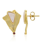 Mother of Pearl Silver Earrings (MONOSONO COLLECTION)