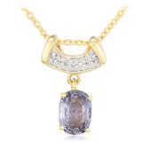 18K Unheated Sapphire Gold Necklace