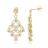 9K White Sapphire Gold Earrings