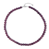 Lepidolite Silver Necklace