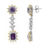 Zambian Amethyst Silver Earrings (Dallas Prince Designs)