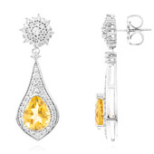 Citrine Silver Earrings (Memories by Vincent)
