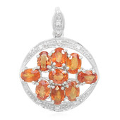 Sunset Ruby Silver Pendant