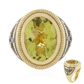 Ouro Verde Quartz Silver Ring (Memories by Vincent)