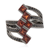Mozambique Garnet Silver Ring (Memories by Vincent)