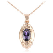 18K Mahenge Purple Spinel Gold Necklace