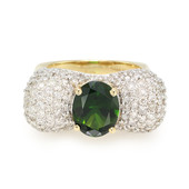 18K Russian Diopside Gold Ring