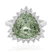 Green Amethyst Silver Ring (PHANTASIA)