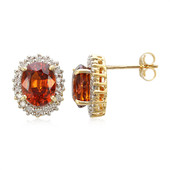 18K Mandarin Garnet Gold Earrings