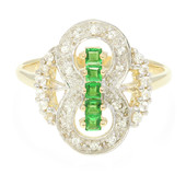 9K AAA Tsavorite Gold Ring