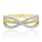 9K SI Canary Diamond Gold Ring