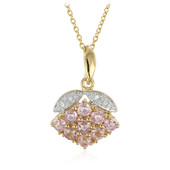 14K Ceylon Pink Sapphire Gold Necklace (Molloy)
