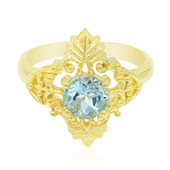 Sky Blue Topaz Silver Ring