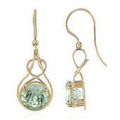 9K Green Amethyst Gold Earrings (PHANTASIA)