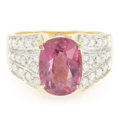 18K Red Cuprian Tourmaline Gold Ring