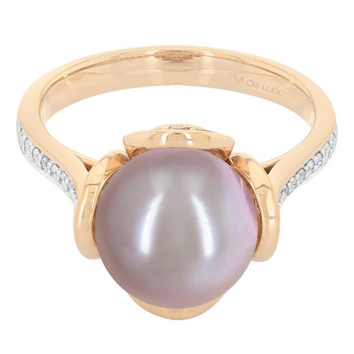 10K Kasumigaura Pearl Gold Ring (M de Luca)