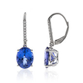 14K AAA Tanzanite Gold Earrings (CIRARI)