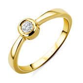 14K SI Diamond Gold Ring