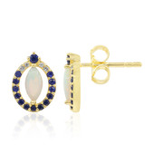 9K White Opal Gold Earrings