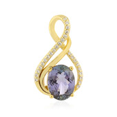 Unheated Tanzanite Silver Pendant