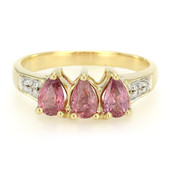 18K Unheated Padparadscha Sapphire Gold Ring