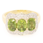 18K Green Sapphire Gold Ring