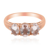 10K AAA Morganite Gold Ring
