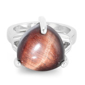 Red Tiger´s Eye Silver Ring