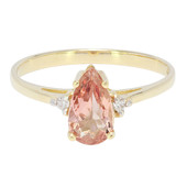 9K AAA Imperial Topaz Gold Ring