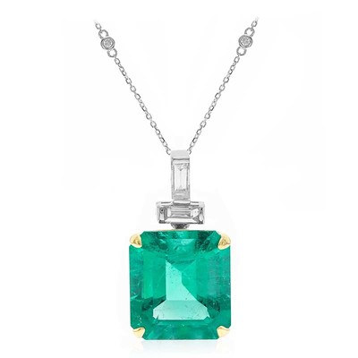 18K Colombian Emerald Gold Necklace (CIRARI)
