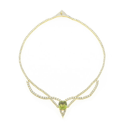 18K Paraiba Tourmaline Gold Necklace (de Melo)