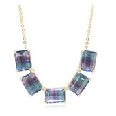 9K Bi Colour Fluorite Gold Necklace