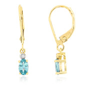 9K Ratanakiri Zircon Gold Earrings