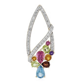 9K Swiss Blue Topaz Gold Pendant (Adela Gold)