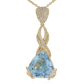18K AAA Brazilian Aquamarine Gold Necklace (de Melo)