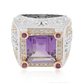 Rose de France Amethyst Silver Ring (Dallas Prince Designs)