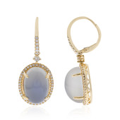 14K Blue Moonstone Gold Earrings (CIRARI)