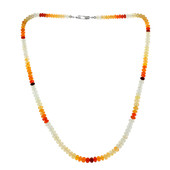 Fire Opal Silver Necklace