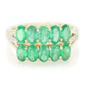 14K Brazilian Emerald Gold Ring