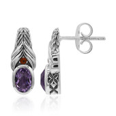 Amethyst Silver Earrings (Nan Collection)