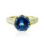 14K AAA Tanzanite Gold Ring (de Melo)
