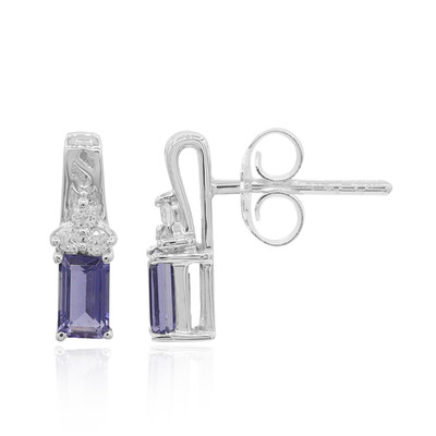 Iolite Silver Earrings